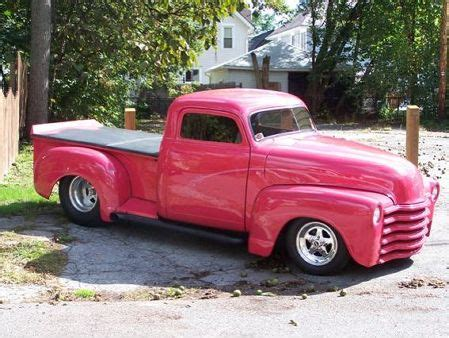Pink Chevy Pickup Truck