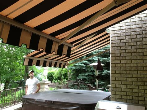 cross arm retractable awning cleveland sunbrella fabric