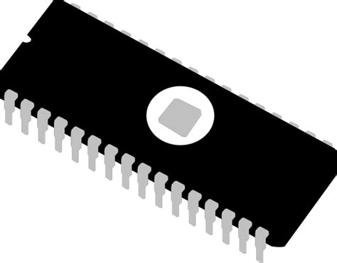 Eprom Chip Integrated Circuit Memory Ic Clip Art At Clker