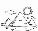 Pyramid Coloring Drawing Great Pyramids Giza Sketch Egyptian Three Pages Drawings Egypt Coloringsky Sky Sketches Template Printable sketch template