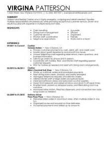 resume description for gas station cashier restaurant cashier duties resume cashier food and