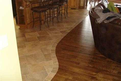 tile hardwood transition for the home