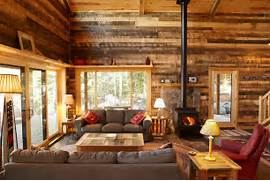 Rustic Cabin Living Room Ideas by Get Cozy A Rustic Lodge Style Living Room Makeover BetterDecoratingBible