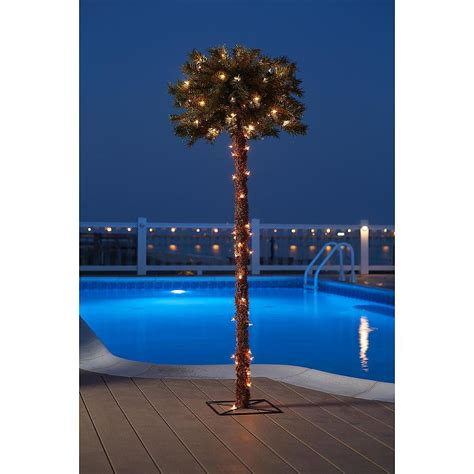 lighted palm tree decorative garden yard poolside decor