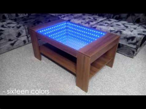 Diy Infinity Mirror Coffee Table (self Made)  Do It Yourself