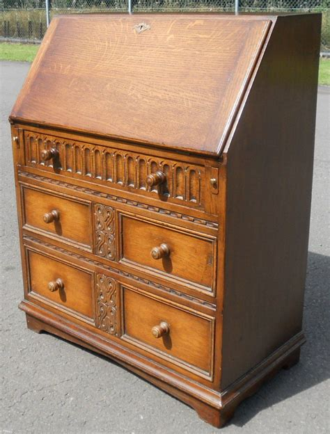 oak writing bureau furniture jacobean style oak writing bureau