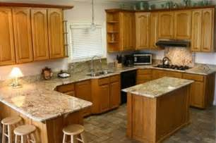 pictures of kitchen cabinets and countertops golden oak cabinets with quartz google search kitchens