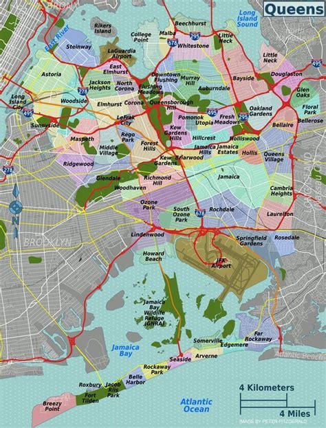 Queens Map Map Of Queens New York City