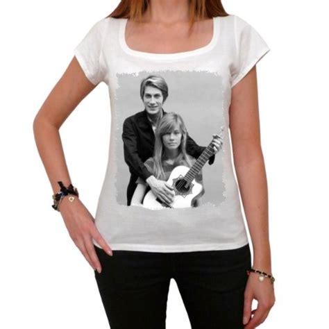jacques dutronc t shirt jacques dutronc fran 231 oise hardy t shirt femme imprim 233
