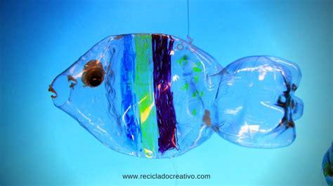 figuras de peces en material reciclado m 243 vil con peces hecho con botellas de pl 225 stico