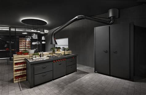 Futuristic Extractor Hood Mammut for Mina Kitchen by