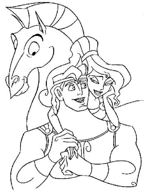 Kleurplaat Hercules by Hercules Coloring Pages And Print Hercules
