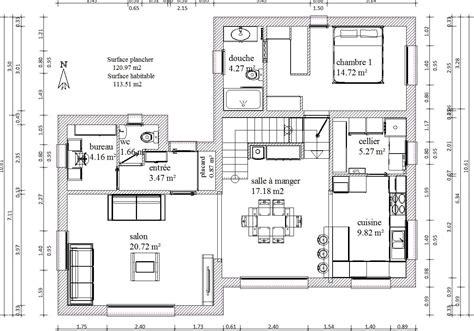 Plain Pied Ou Etage Moins Cher by Modele Plan Maison Plain Pied Gratuit 13 Plans De 120m2