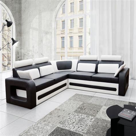 canape noir et blanc canape angle noir et blanc maison design modanes com