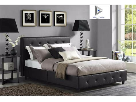Leather Headboard Bed Frame by Upholstered Bed Frame Headboard Black Faux