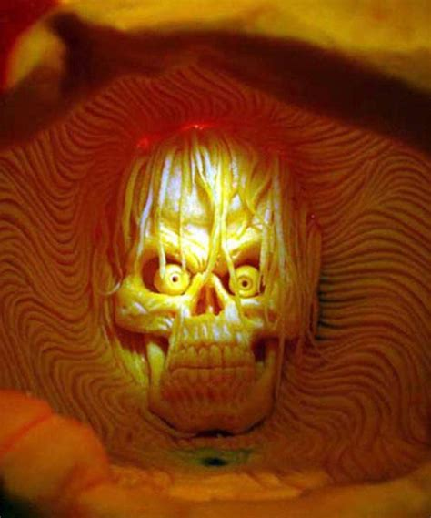 awesome carved pumpkin awesome halloween pumpkin carvings by ray villafane gadgetsin