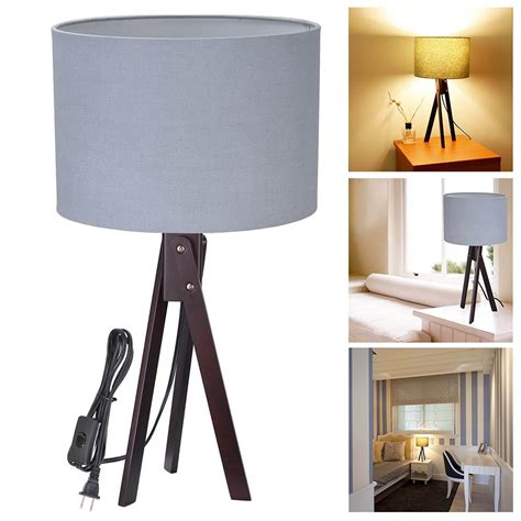 bedroom light stand modern tripod table desk floor lamp wood wooden stand home 10527 | 11dsl001 tri09 blk 01