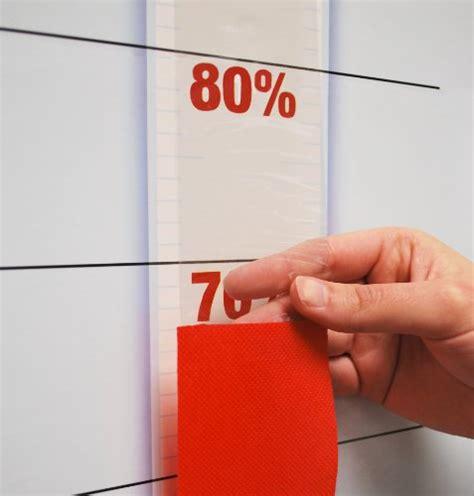 goal setting thermometer chart reusable dry erase  pull  ribbon    buy