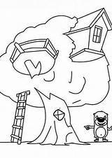 Treehouse Coloring Colouring Beaver Luna Colorluna sketch template