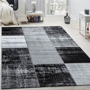 Teppich Schwarz Weiß Grau : teppich karos meliert grau design teppiche ~ Eleganceandgraceweddings.com Haus und Dekorationen
