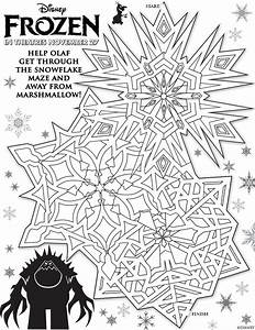 Free Printable Maze Activity Sheets To Celebrate Frozen