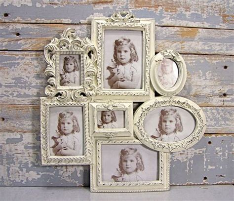 shabby chic collage photo frame collage frame large white wedding frame shabby cottage chic wall decor french country decor
