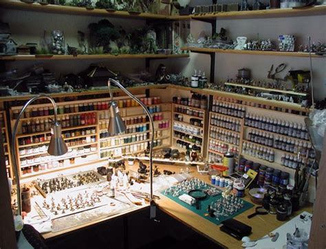 painting stuff organized workbench