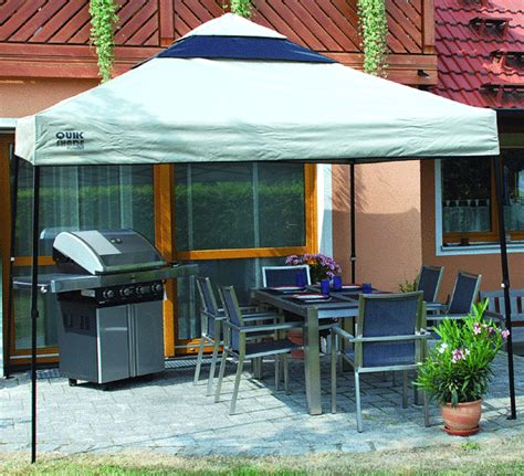 quik shade pavillon summit gazebo  natur grillzelt art