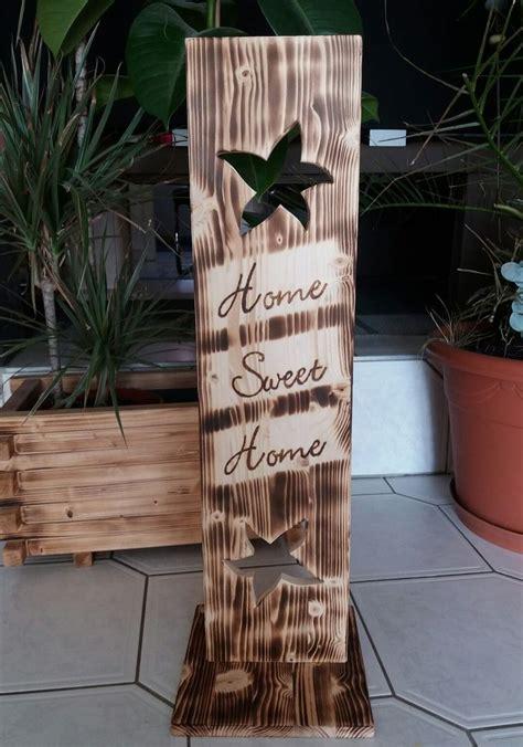 Weihnachtsgestecke Aus Holz by Holz Deko Schild Geflammt Home Sweet Home Ebay
