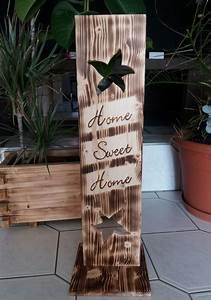 Deko Schriftzug Holz : holz deko schild geflammt home sweet home ebay ~ Eleganceandgraceweddings.com Haus und Dekorationen