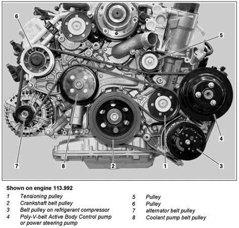 2005 Mercede Engine Diagram by Mercedes Serpentine Belts Pulleys Performance