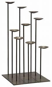 Set of 9 Mariel Floor Pillar Holders - Modern - Candles ...