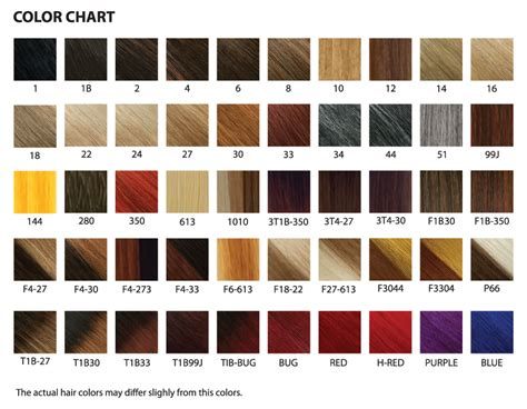 Xpressions Braiding Hair Color Chart