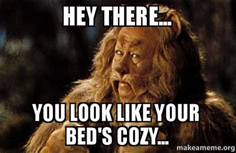 Hey You There Meme - hey there you look like your bed s cozy make a meme