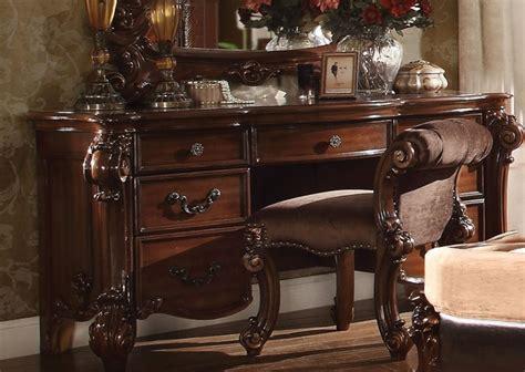 vendome victorian  drawer bedroom vanity desk  cherry
