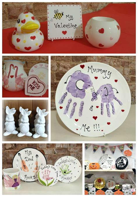 paint your own seasonal pottery gifts at dotty pottery
