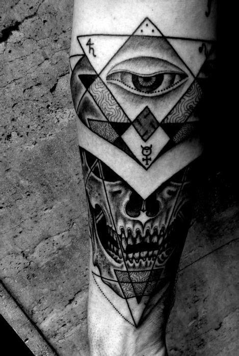 Jondix Holytrauma tattoo with alchemy, eye, skull, sacred geometry   Tattoos, Tattoo designs men