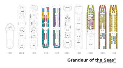 Grandeur Of The Seas Deck Plan 3 by Royal Caribbean International Grandeur Of The Seas