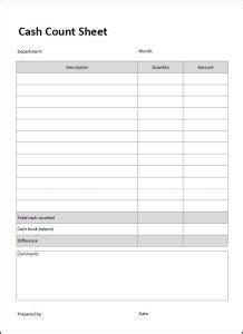 cash count sheet bookie rookie balance sheet template