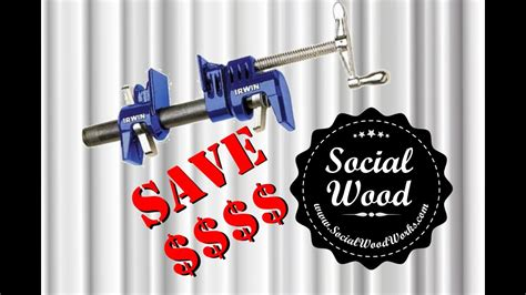 woodworking tip  save money  pipe clamps youtube