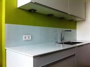 Pose Credence Verre : pose credence cuisine verre blanc cr dences cuisine ~ Premium-room.com Idées de Décoration