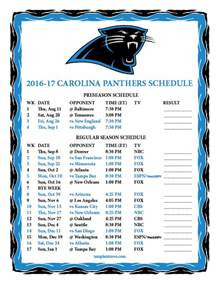 Carolina Panthers Schedule 2016 2017