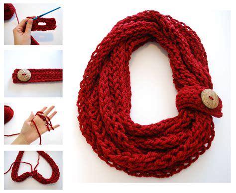 finger knitting scarf patterns  funky stitch