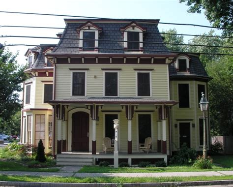 Haus Mit Mansardendach by Historic Buildings Of Connecticut 187 Mansard