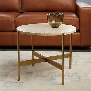 round bone inlay side table pink west elm With west elm bone coffee table