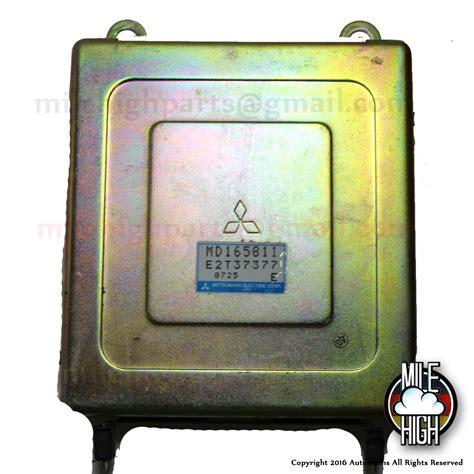 Mile High Mitsubishi by 91 92 Mitsubishi Galant Vr 4 Engine Computer Ecu Md165811