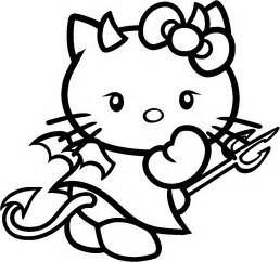 Hello Kitty Halloween Coloring Sheets hello kitty halloween coloring pages getcoloringpages com