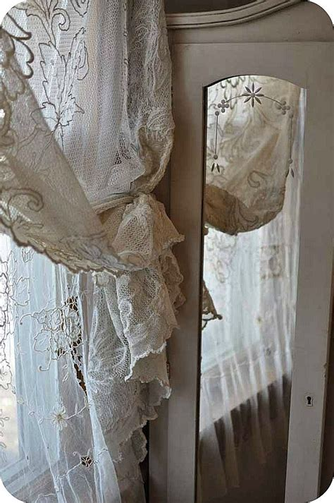 1000 ideas about white lace curtains on lace