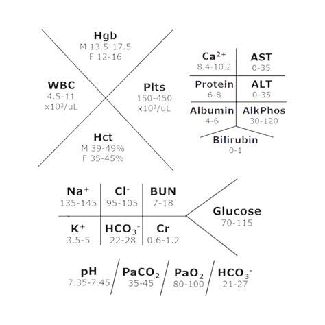 fishbone lab diagram template most common lab values umb student nurses association
