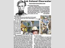 Established 1914 Ask Colonel ClearwaterDear Colonel